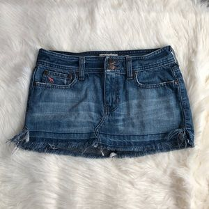 Abercrombie and Fitch Denim Mini Skirt Size 0